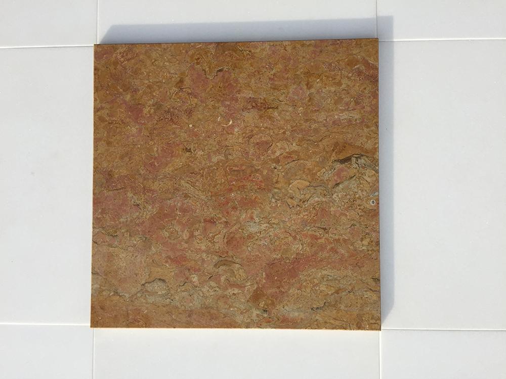 Giallo Reale Rosato Fényes mészkő 30,5×30,5×1 cm  Azonnal Elérhető