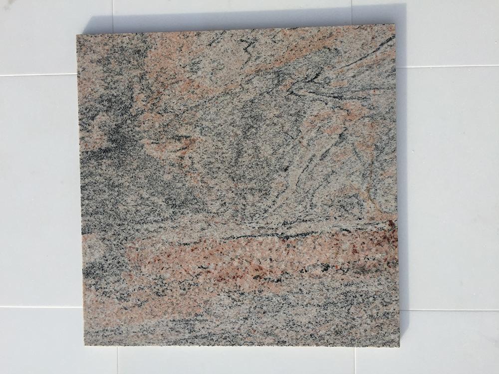 Juparana pg Fényes Gránit Nagy mennyiségben elérhető  40x40x1 cm  Azonnal Elérhető